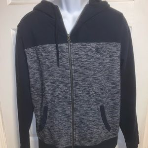 Express blue zip up hoodie